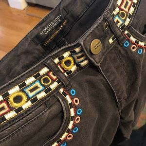 Scotch & Soda Embroidered Pants
